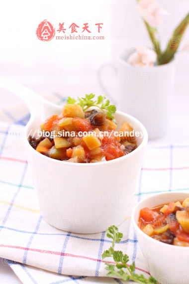 西红柿烧茄子 儿童菜