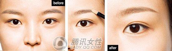 纹眉眉型图片画法步骤