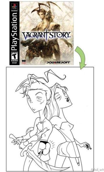 有爱网友手绘搞笑游戏封面