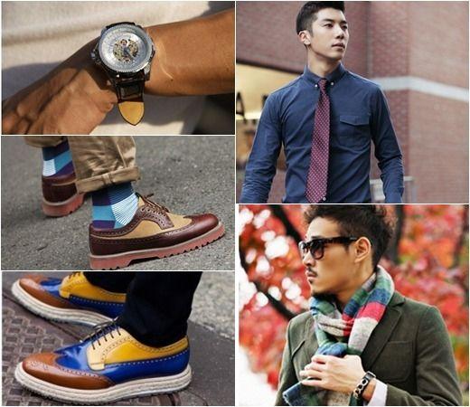 韩版西装搭出浓浓的男人味 网络人气男示范经典搭配 高清图片