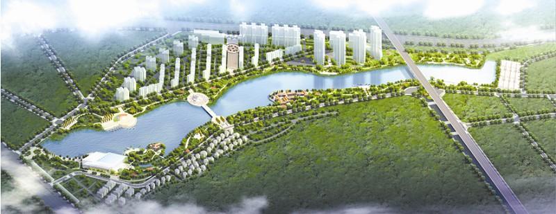 外荆襄河公园呈带状,东侧紧邻高速公路出入口,西距荆州古城1.