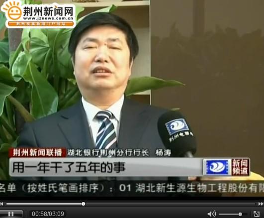 荆州十大经济人物候选人 杨涛