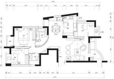 120平方房屋装修设计图 3房2厅健康环保家