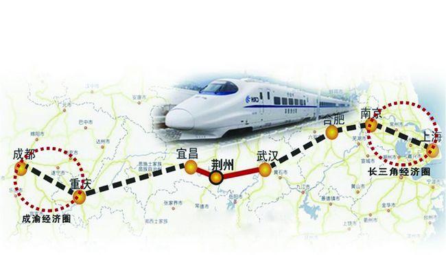 东连合肥至武汉铁路,西接宜昌至万州铁路