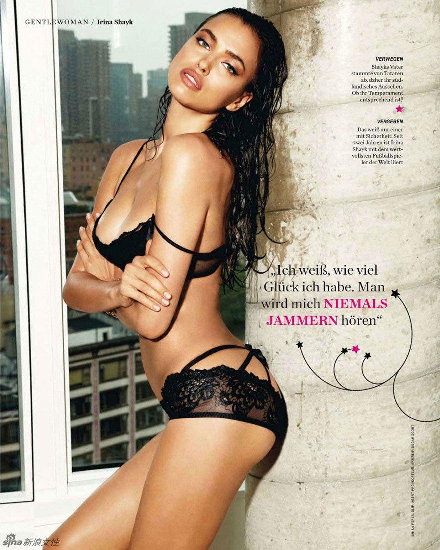 罗女友真空诱惑拍写真 登德国版《gq》封面