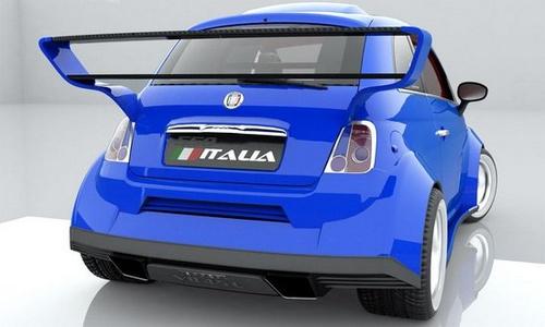 曝菲亚特550 Italia渲染图 搭法拉利引擎