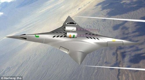 美研制新型超音速飞机 外形像飞镖空中能旋转