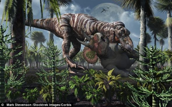 地球食物链遭破坏 致使白垩纪恐龙灭绝(图)
