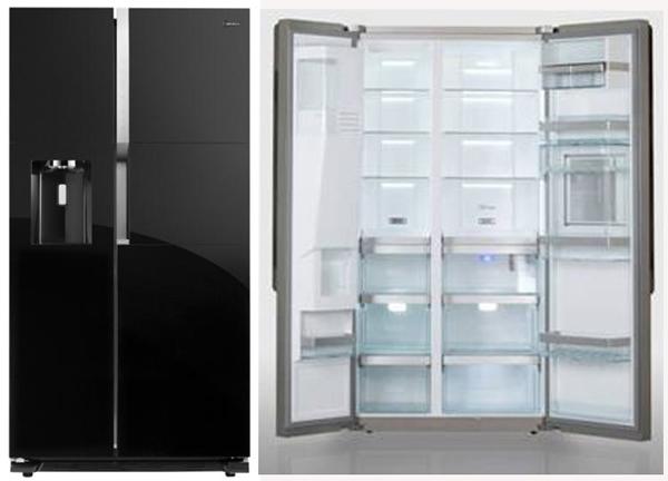 索尼欧式对开门冰箱图片
