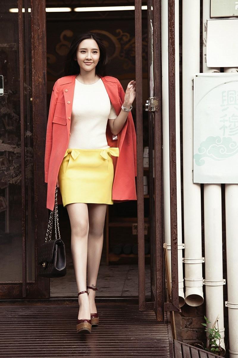 唐艺昕时尚街拍 高清图片