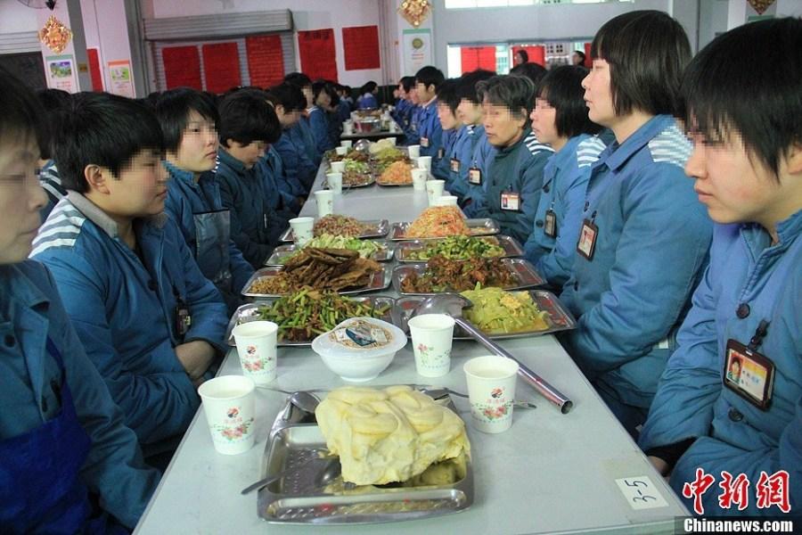女子监狱内的年夜饭-女子监狱|对外开放|服刑人