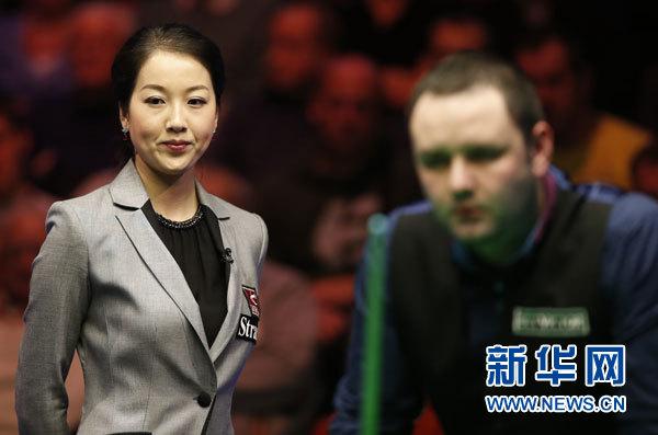 中国美女裁判执法斯诺克排名赛决赛