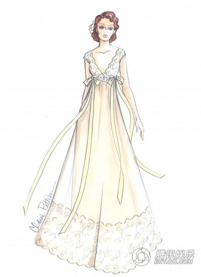 礼服设计图手稿