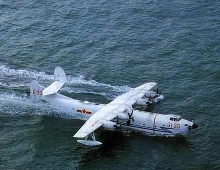 装备的国产某型水上飞机具有超低空性能好,续航时间长,运载量大等特点