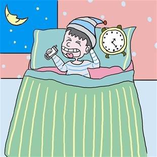 睡不着觉得卡通图片