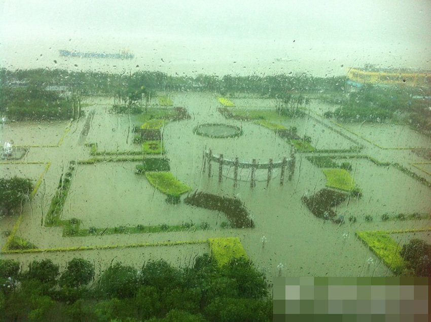 台风天兔吹图片_