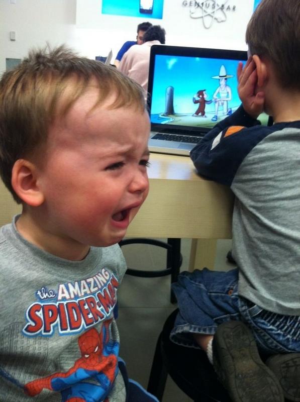 孩童情绪失控放声大哭的悲伤瞬间(组图)-放声大