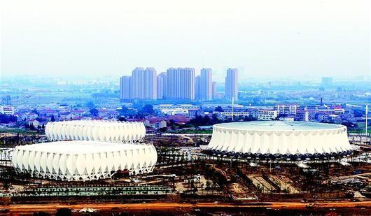 荆州体育中心基本建成