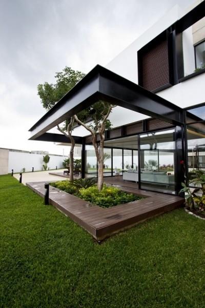 L型布局 墨西哥现代别墅设计