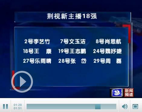 荆视新主播18强产生 选手名单公布