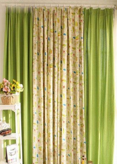 时尚窗帘布艺,现代客厅卧室全棉窗帘.-夏季窗帘选购小常识 多色搭图片