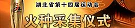 湖北省第十四届运动会火种采集仪式