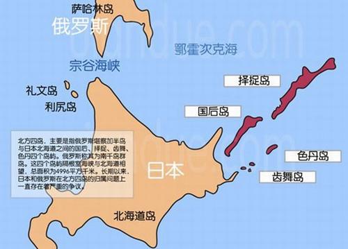 日俄争议岛屿示意图(资料图)