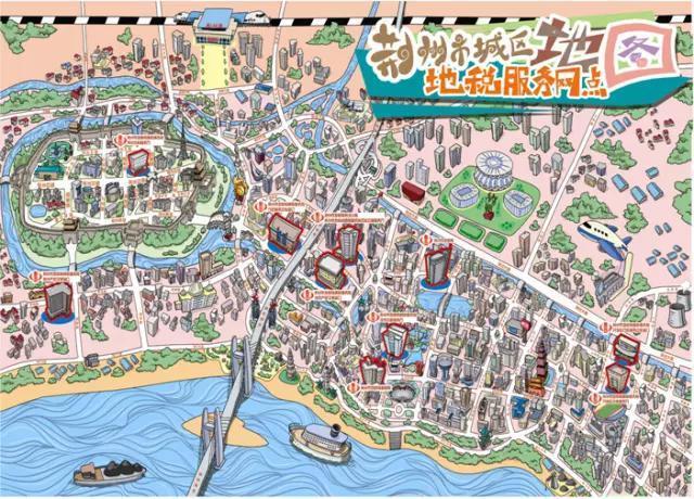 荆州版手绘旅游地图出炉,你家也被画上去啦!——
