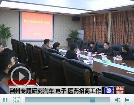 荆州专题研究汽车、电子、医药化工产业招商工作