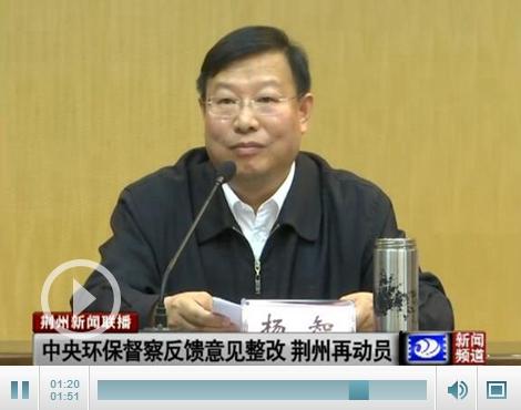 杨智:不折不扣把中央环保督察反馈问题整改到位