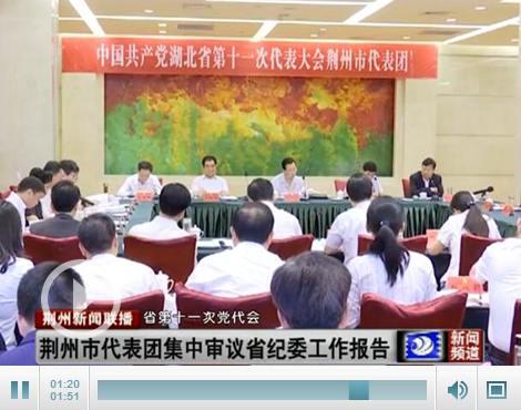 荆州市代表团集中审议省纪委工作报告