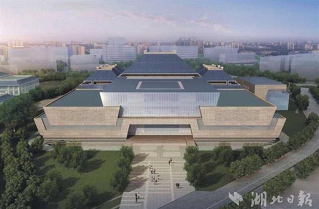湖北省博物馆三期文展大楼封顶 计划明年投入运营
