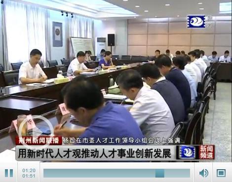 市委人才工作领导小组会议召开
