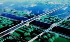 """特约记者行:通往""""园博园""""的海子湖特大桥建设正酣"""