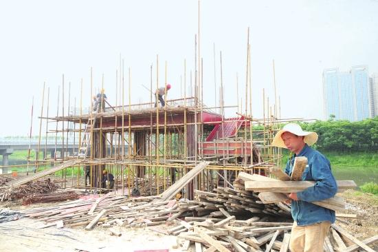 最新进展!郢南排水闸初现雏形 工程计划月底竣工