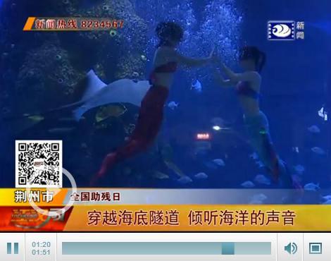 全国助残日 荆州75名视力障碍人士倾听海洋的声音