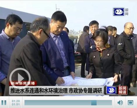 市政协调研荆州中心城区水系连通和水环境治理情况