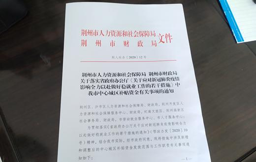 失业补助金、失业保险金…… 荆州最新补助政策来了