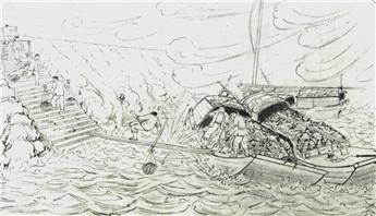 特約記者行:一聾啞畫家曾用畫筆見證老碼頭悲與喜